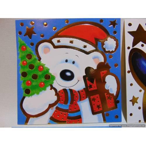 Ziemassvētku kartiņas 10gab