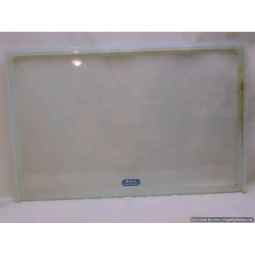 Ledusskapja stikla plaukts