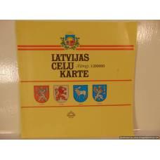 Latvijas ceļu karte
